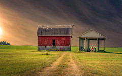 Sharing The Past (henryhintermeister) Tags: barns minnesota wibarns oldbarns clouds farming countryliving country sunsets storms sunrises pastures nostalgia skies outdoors seasons field hay silos dairybarns building architecture outdoor winter serene grass landscape plant cloudsstormssunsetssunrises cadottwi