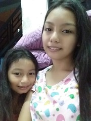 Ashley and I (ghostgirl_Annver) Tags: asia asian girls annver ashley teen preteen child kid daughter sister siblings family portrait happy