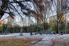 Playground (Jonathan Lyly) Tags: hdr park playground tree stockholm sweden autumn leaves snow