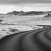 Winding Road Black and White