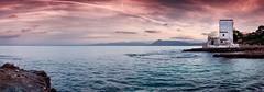 Panoramica Sant'Elia (Mirko Li Greci) Tags: landscape panorama panoramica sicily sicilia santelia palermo tramonto sunset sun sole nuvole clouds sea mare waves onde mediterraneo building costa spiaggia