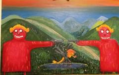 chugayster fight for mermaid (alvasliapin) Tags: chugayster duel hunger mermaid mawka carpathians picture oil canvas grass lake landscape чугайстр дуэль голод русалка мавка карпаты картина масло холст трава озеро пейзаж зеленый красный