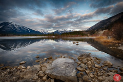 Spring is here! (Kasia Sokulska (KasiaBasic)) Tags: canada alberta mountains rockies banffnationalpark spring travel landscape vermilion lakes reflections sky clouds morning