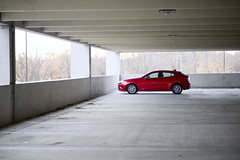 Pretty Mild For A Midlife Crisis Car (Rich Renomeron) Tags: 118picturesin2018 fujifilmxt20 fujinonxf56mmf12r car red mazda3