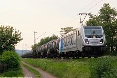 Railpool/HSL 187 307 am 23.05.2018 mit einem Kesselwagenzug in Unterhaun (Eisenbahner101) Tags: