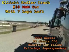 2003 Nascar EA Sports 500 Talladega Superspeedway - Elliott Sadler Crash (Davey Z(3)) Tags: 2003 ea sports 500 talladega superspeedway elliott sadler crash alabama race track allison motorhome ridge davy z 1 2 3 fast nascar video camera fence event circular load noisy rv camping checkered flag winston cup series wreck smashed roll mm trip announcers rescue crew davey