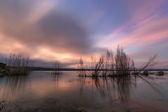 Reflejos en el lago (Victor Aparicio Saez) Tags: reflejos rocas arboles atardecer agua aguasedosa fotoconamparohervella