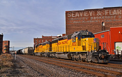 Eastbound Transfer in Kansas City, MO (Grant G.) Tags: up union pacific railroad railway locomotive train trains east eastbound transfer freight emd power kansas city missouri yard job
