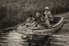 Boys (karmajigme) Tags: boys childhood children youth water boat dallake lake srinagar kashmir india travel monochrome blackandwhite noiretblanc bw nikon