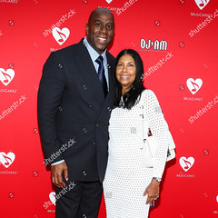 Magic Johnson (Zhanaemaxwell) Tags: 12th annual musicares map fund benefit concert arrivals los angeles usa ervin magic johnson left cookie attend held at novo by microsoft female personality socialite 64542446