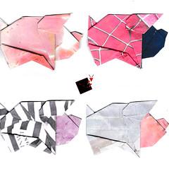 shades of pigs (-sebl-) Tags: pig wall spiderman origami sebl prisonner ham trump mexican paper printed