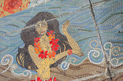 Hula Girl Mosaic, Torremolinos (Jonathan Makin Photography) Tags: torremolinos spain costa del sol málaga malaga andalucia coast sea resort beach seaside holiday mosaic hawaii hawaiian hula girl