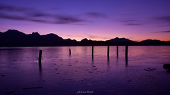 Whisky and Water (PhotonenBlende) Tags: sunset dusk dawn sunrise reflection twilight silhouette sun backlit water clouds blue purple hopfensee allgäu alps ice cold landscape waterscape outdoor mountains mountainscape lake dramaticsky silhouettes purplehour