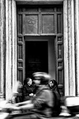 L'elemento di disturbo (photograph61) Tags: chiesa suore scooter strada