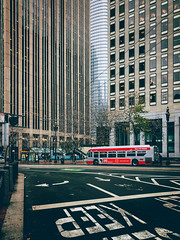 Rainy San Francisco (flrent) Tags: san francisco city bay area california salesforce tower muni bus street rain