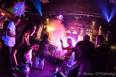 When The Party Goes On (Brian O'Mahony) Tags: clubbing people nightclubbing purple canon5dmarkiv fun brianomahony canon thephotographiceye clubbers esquires nightclub uvparty high voltage bedford canon815mmf4lfisheye fisheye hard house clublife party time