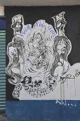 Gang Signs Mural Oaxaca Mexico (Ilhuicamina) Tags: gangs murals art mexican oaxaca walls streetart