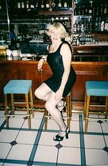 Anyone For Cocktails? (Laurette Victoria) Tags: dress cocktaildress blonde bar milwaukee woman laurette legs