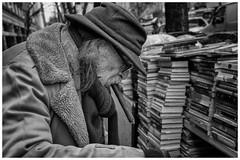 Charlie - Stranger 29/100 (AEChown) Tags: cigar bookseller broadway newyork portrait mono monochrome blackandwhite streetportraits 100strangers stranger