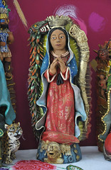 Virgin of Guadalupe Oaxaca Pottery Mexico (Teyacapan) Tags: aguilar pottery ocotlan oaxaca mexico guadalupe artesanias museo crafts
