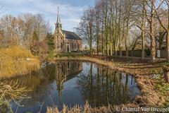 Kerkje Blankenham (Chantal van Breugel) Tags: kerkje kolk landschap reflecties spiegeling blankenham overijssel februari 2019 canon5dmark111 canon1635