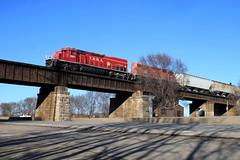 Madison Turn (wras23) Tags: terminalrailroadassociationofstlouis trra sd402 3001 tunnelmotor venice illinois bridge train railroad