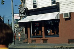 New Paltz  NY.  Chez Joey's Pizzeria and The Thesis bar. (Gone) 50 Main Street. Hot Open Faced Roast Beef Platters. (Jack Falat) Tags: jack falat jackfalatcom nj pawleys island sc south carolina smittys rd nude nudist swimming hole skinny dipping skinnydipping hippie bar tavern club sandy vic victor muscles new paltz wibert smith mike horse riis park nyc ny marbletown rosendale coxing kill river stream york hotel motel inn water falls forest woods beach pool retreat boarding house shawangunk mountains barn mohonk mountain huntington murrells inlet georgetown litchfield grand strand myrtle