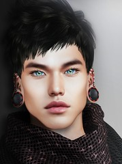 "★ Look 474 "" Filippo "" (Marzia & Shaitan Demon ""Frozen Space Fashion Blog ) Tags: lelutka signature aviglam straydog mancave ethereal skinfair2019 dura bento mesh secondlife shape manskin guy ritratto"