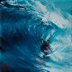 Fast Surfer (bozhenafuchs) Tags: art painting oilpainting surfer surfing waves wave sea ocean seascapepainting seascape sport extreme surfingboard surfingart