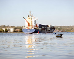 Samskip Express, Port of Cork (nikolaijan) Tags: mamiya rb67 c180mmf45 kodak expired 120 cork port container ship water ireland