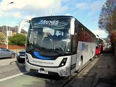Maynes MAN MOBIpeople, M23 GSM (miledorcha) Tags: man vehicles rr8 19290 rear engined integral chassis underframe mobipeople explorer mark2 high capacity 32 school bus seating dual door entrance nearside 74 seats seater psv pcv mayne maynes coaches ltd buckie banff noth east scotland edinburgh rugby six nations murrayfield scottish m23gsm
