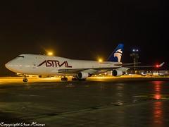 Astral Aviation TF-AMM HAJ at Night (U. Heinze) Tags: aircraft airlines airways airplane flugzeug planespotting plane haj hannoverlangenhagenairporthaj eddv olympus 1240mm night