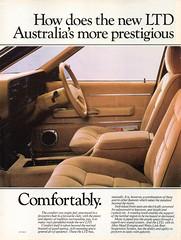 1982 FD LTD By Ford Page 1 Aussie Original Magazine Advertisement (Darren Marlow) Tags: 1 2 8 9 19 82 1982 f d fd l t ltd ford s sedan c car cool collectible collectors classic a automobile v vehicle aussie australian australia 80s