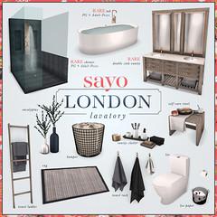 SAYO - London Lavatory Gacha @ Arcade (Kayami Osakki (SAYO)) Tags: sayo secondlife london lavatory gacha bath bathroom home house decor interior arcade