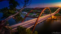 Pennybacker Blue Hour 03 (Evan Gearing Photography) Tags: 360 360bridge pennybackerbridge austin texas tx unitedstates us