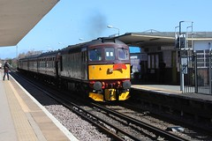 WCR BLS 1Z86 'The Ruby Vampire - 2nd Bite' railtour passes through Hoylake Station 24th  March 2019 with BRCW Crompton Type 3 No. 33029© (steamdriver12) Tags: wcr bls 1z87 the ruby vampire 2nd bite railtour station 24th march 2019 brcw crompton type 3 no branch line society west coast railways england diesel electric heritage traction hoylake wirral cheshire 33207