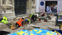 Knocking on Heaven's door 1063 (Tony Withers photography) Tags: archaeologists archaeology canterbury cathedral renovation improvement ongoing precincts church england anglican blocks stone