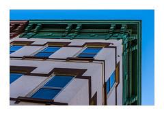 Brooklyn, looking up (Marcello Arduini) Tags: geometry brooklyn architechture building sky corner woodwork windows brick newyork spring light