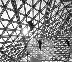 in the web (Georgie Pauwels) Tags: web museum blackandwhite olympus geometry