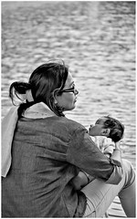 """""""There is nothing as powerful as mother's love, and nothing as healing as a child's soul."""" (Ramalakshmi Rajan) Tags: blackandwhite nikond5000 nikon nikkor18140mm travel kolkata motherandchild potraits candid"""
