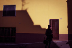 (luigi_cinque) Tags: shadow street streetphotography salento color contrast city fuji fujifilm girl geometry light puglia pop yellow