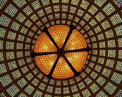 Chicago Stained Glass (Melanie Alexandra Photography) Tags: chicago illinois architecture stainedglass dome tiffanyglass geometric