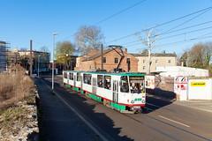 Altbau in der Neustadt (trainspotter64) Tags: strasenbahn streetcar tram tramway tranvia tramvaj tramwaje sachsenanhalt mvb čkd tatra t6a2 magdeburg