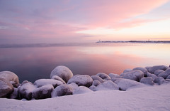 Promise of a Fine Day (robin-loo) Tags: nikon nikond5100 meaford dawn sunrise ontario georgianbay lakehuron greatlakes winter ice