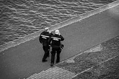 Municipal police - Carl Zeiss Jena Sonnar 135mm f 3,5 (petrwag) Tags: sonya6500 carlzeiss carlzeissjenasonnar135mmf3 5 bw blackandwhite blancoynegro blackwhite černobílé clickcamera czech noiretblanc noirblanc street manuallens vintagelens