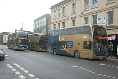 Triple Gold (wyedevon) Tags: gloucestershire gloucester bus station city town centre buses outdoors vehicle