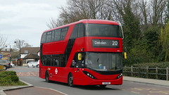 Cities of Essex (londonbusexplorer) Tags: ct plus hackney community transport adl enviro 400 city hybrid 2544 yx19orv 20 debden walthamstow central tfl london buses