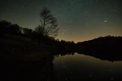 Orion und Plejaden über dem Weinfelder Maar (clemensgilles) Tags: eifel germany deutschland lomgexposure mirror stars lakeside maar vulkaneifel see spiegelung astrophoto astrophotography orion plejaden night nachtfoto stargazing sternenzelt sternenhimmel