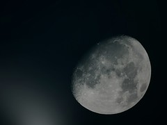 Moon in the Night with running clouds. JPEG - 1.6x Converter - 1900 mm (eagle1effi) Tags: 16x 1900 mm jpeg c2 mf moon edit photoshop canon powershot sx70 hs canonpowershotsx70hs eagle1effi bridgecamera bridgekamera best photo photos effiart2019