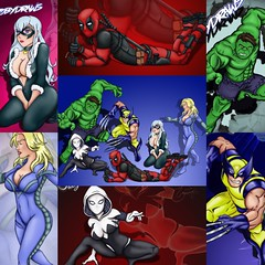 My marvel drawings (Toby0177) Tags: collection pose manga anime illustration art photoshop drawing draw catoon marvel